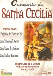Cartel concierto de Santa Cecilia